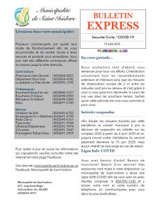 Bulletin express - COVID19